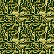 Abstract seamless texture - circuit board - Stock Photo