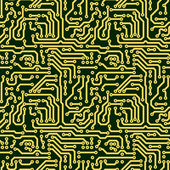 Abstract seamless texture - circuit board — Stock Photo