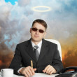 Government official - almost a god - Stock Photo