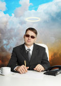 Government official - almost a god — Stock Photo