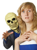 Terrible death came young woman — Stock Photo