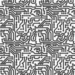 Seamless texture - theme electrical — Stock Photo