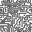 Stock Vector: Seamless vector texture - circuit board
