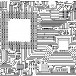 Stok Vektör: Vector circuit board - industrial background