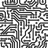 Seamless vector texture - circuit board — Vetor de Stock