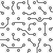 Seamless pattern - computer circuit board — Stock Vector