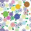 Royalty-Free Stock Imagen vectorial: Seamless texture of color gears