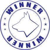 证书的犬俱乐部邮票矢量速写 — 图库矢量图片