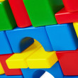 Wall of toy castle closeup — Stock Photo