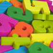 Child toy wooden letters — Stock Photo
