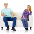 Husband and wife do not find mutual understanding — Stock Photo