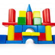 Stock Photo: Toy color castle on white