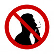 "Stock Vector: No smoking"" sign"