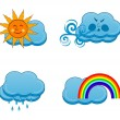 Stock Vector: Vector illustration of a weather icons set
