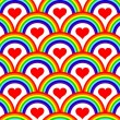 Royalty-Free Stock Imagen vectorial: Vector illustration of a seamless rainbow pattern