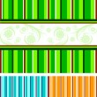 Vector illustration of a set of striped backgrounds — Image vectorielle