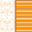Vector illustration of an orange striped background. — Stock Vector