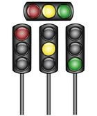 Vector illustration of a traffic lights — Vecteur