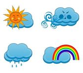 Vector illustration of a weather icons set — Stock Vector