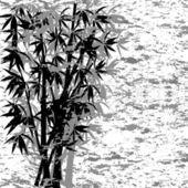 Vector ilustración de un bambú grunge — Vector de stock