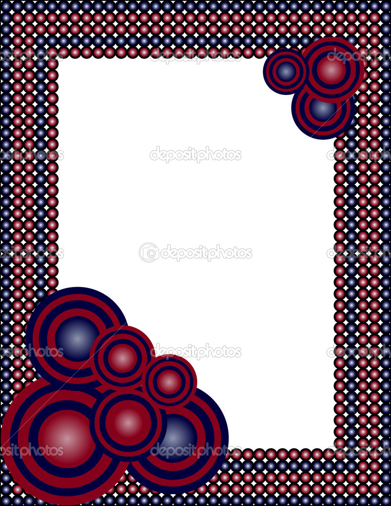 Vector illustration of an abstract frame — ベクター素材ストック #4291041