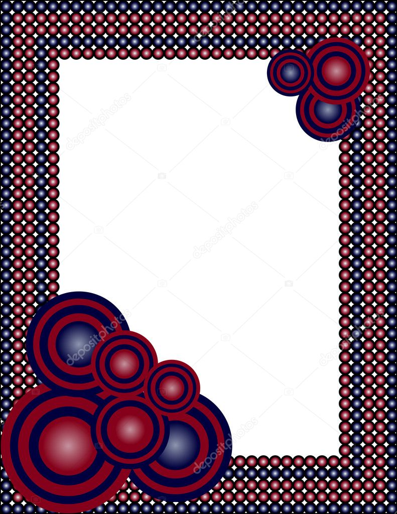 Vector illustration of an abstract frame — Stockvectorbeeld #4291041