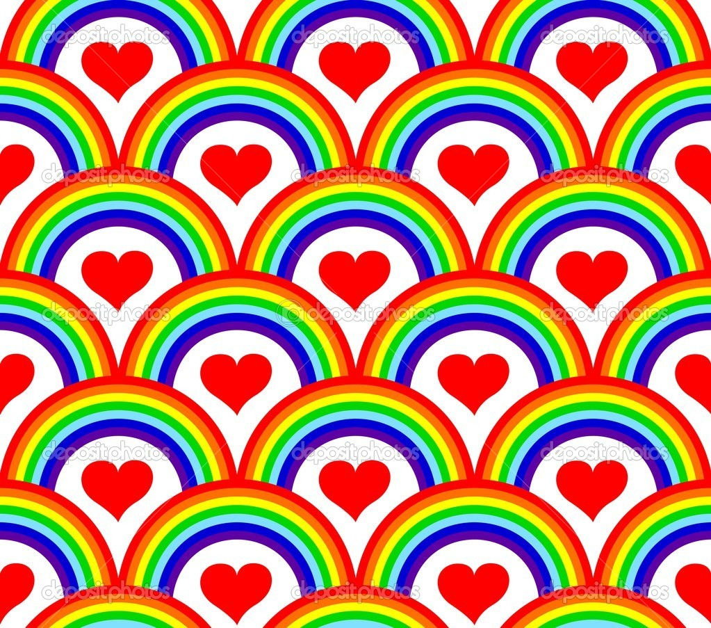 Vector illustration of a seamless rainbow pattern — ベクター素材ストック #4291459