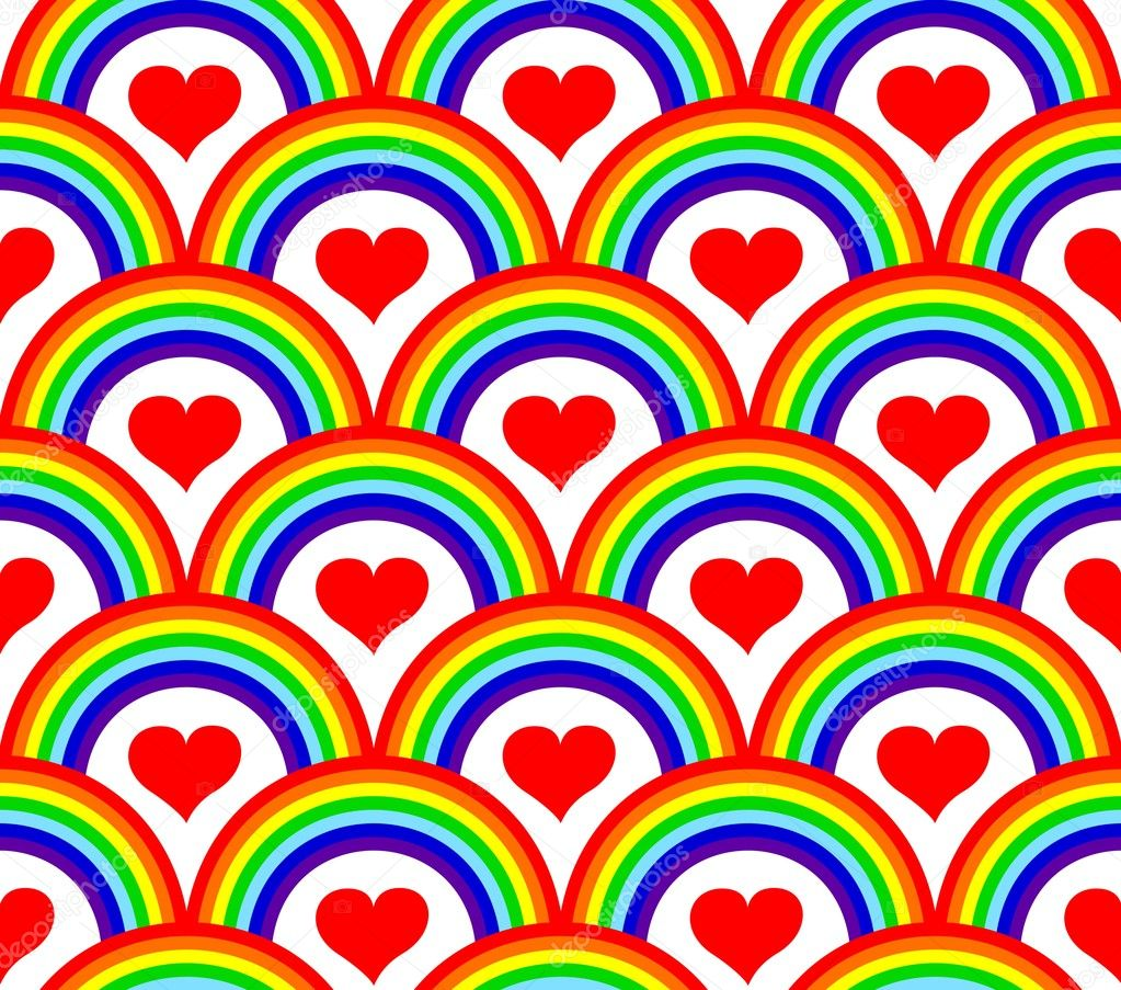 Vector illustration of a seamless rainbow pattern   #4291459