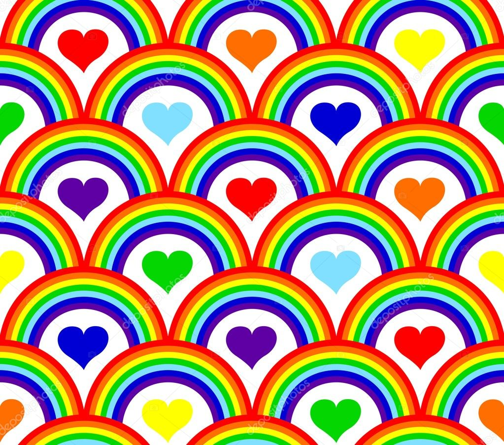 Vector illustration of a seamless rainbow pattern  Stock Vector #4291558