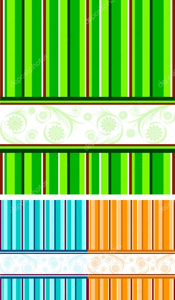 Vector illustration of a set of striped backgrounds  Stock Vector #4292287