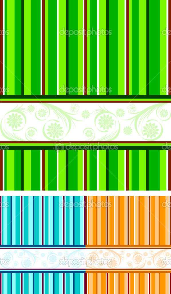Vector illustration of a set of striped backgrounds  Stock vektor #4292287