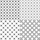 Vector illustration d'un ensemble de motifs abstraits. — Vecteur