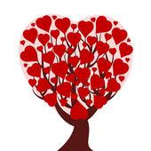 Ilustracja wektorowa drzewa serca na białym tle — Wektor stockowy