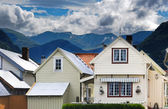 Vik- norvegian village — Stock Photo