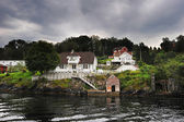 Norwegian wooden house — Stockfoto