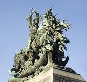 La estatua de san jorge y el dragón — Foto de Stock