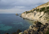 Western coast of the Black sea, Jangul cape — Stock Photo