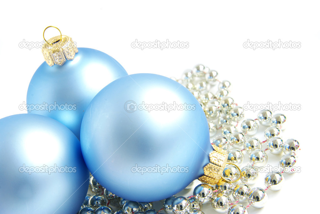 Christmas balls isolated ona white background — Stock Photo #4003417