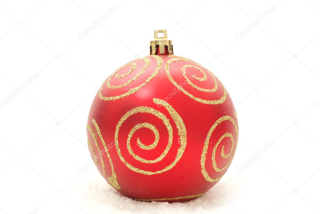 Christmas ball isolated on a white background  Stock Photo #4482282