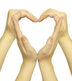 Hands form of heart — Stockfoto