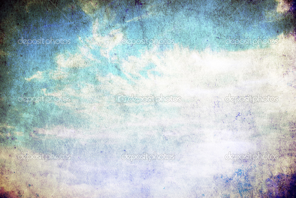 Vintage retro background cloudy sky background. — Stock Photo #5020216