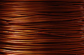 Roll of copper wire — Photo