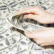 Hand with money — Stock Photo #5098840