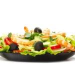 Salad on white — Stock Photo