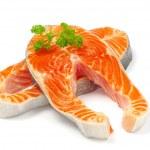 Salmon in white — Stock Photo #5283947