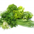 Herbs in white — Stock Photo