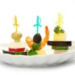 Salad in white — Stock Photo
