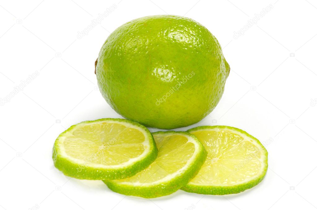 Fresh ripe lime isolated on white background — Stock Photo #5283985