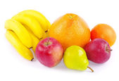 Vruchten op witte — Stockfoto