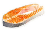 Salmon on white — Stock Photo